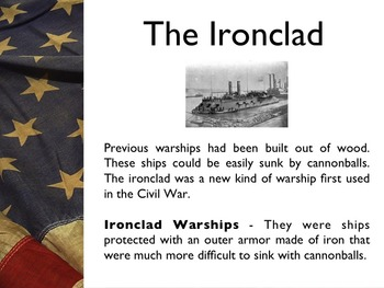 Civil War - The Battle Of Ironclads PowerPoint