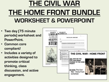 The Civil War - The Home Front Bundle - US History/APUSH C