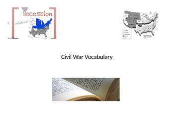 Civil War Vocabulary Game Powerpoint and Flashcard review