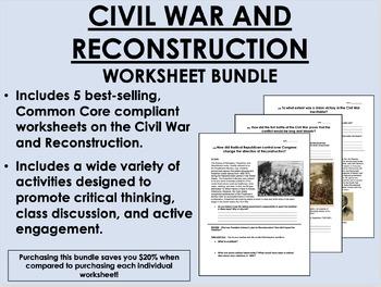 Civil War and Reconstruction Bundle - US History/APUSH - C