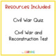 Civil War and Reconstruction Test and Quiz