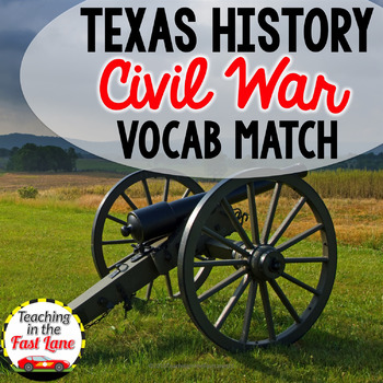 Civil War and Reconstruction Vocabulary Match Up