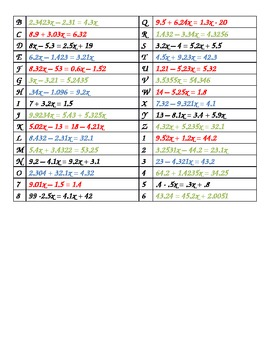 Ck 4 Und Clear Decimals from Equations