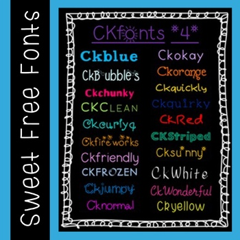 Ckfonts {Set 4} 20 New Sweet Fonts for Teachers (Personal