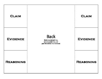 Claim Evidence Reasoning foldables