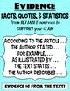Claim, Evidence, and Elaboration (Anchor Charts)