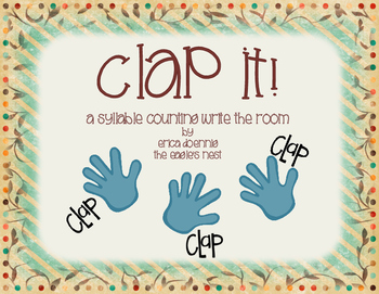 Clap It!  A Syllable Counting Write the Room