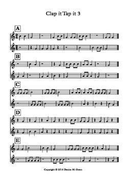 Clap it Tap it 3 (Quarter, eighth, half notes and quarter