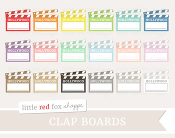 Clapboard Clipart; Movie Theater