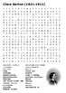 Clara Barton Crossword and Word Search
