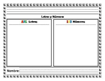 Clasifica letras, números y figuras. / Sort numbers, lette