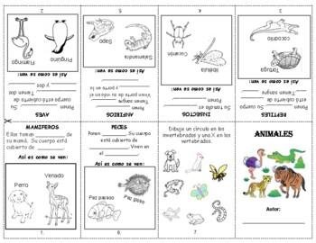 Clasificar Animales librito