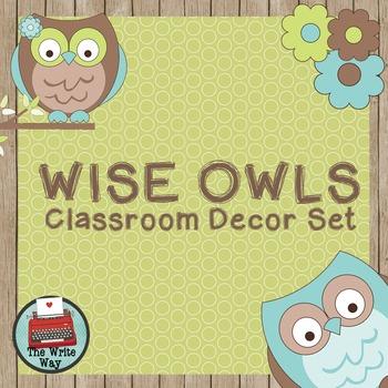 Classroom Decor - Wise Owls