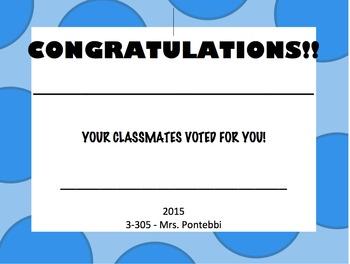 Class Award Template