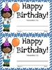 Class Birthday Board - Stars and Stripes Theme {Red, White