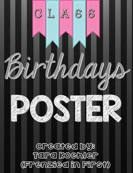 Class Birthdays Poster