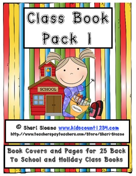Class Book Pack 1 - Back to School/Seasonal