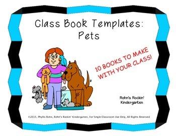 Class Book Templates: Pets