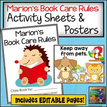 Class Books: Book Care Rules based on What Happened to Mar