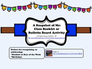 FREE Back to School: A Snapshot of Me (booklet, star stude