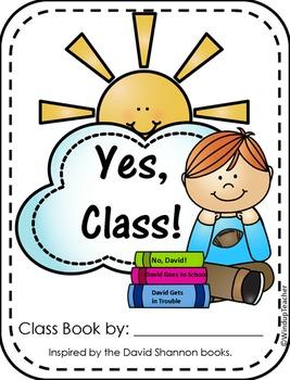 Class Books: No, David Class Book Reproducibles