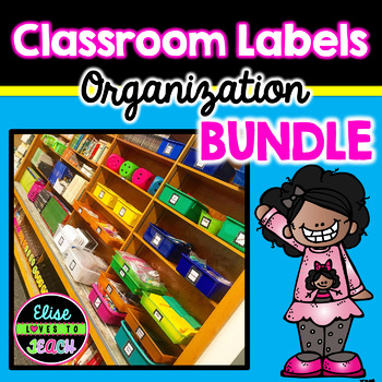 Class Decor Bundle: Black & Bright Theme
