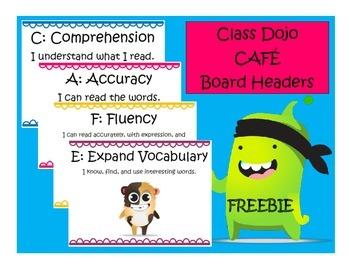 Class Dojo CAFE Signs {FREEBIE}