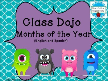 Class Dojo Calendar Headers (English & Spanish)