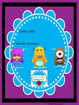 Class Dojo Calendar Numbers