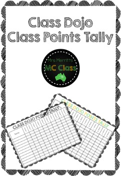 Class Dojo Class Points Tally