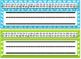Editable Chevron & Stripes Desk Nameplates w/ both Cursive