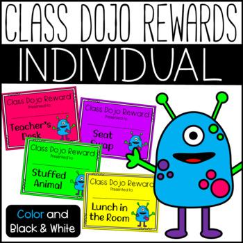 Class Dojo: Individual Reward Certificates