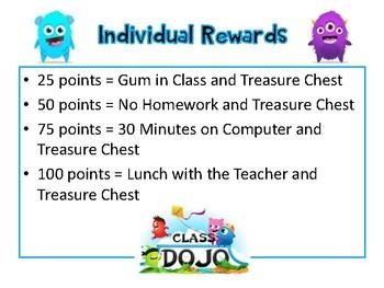 Class Dojo Individual Rewards