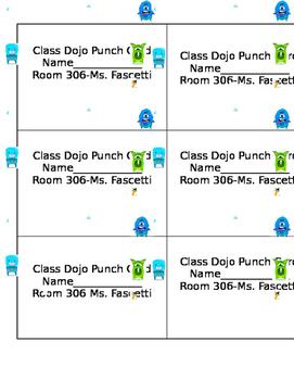 Class Dojo Punch Card