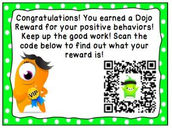Class Dojo Reward Tickets (QR code)