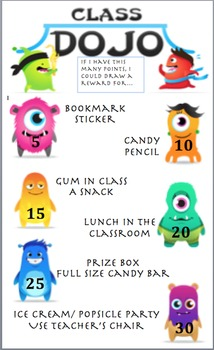 Class Dojo Rewards (Editable)