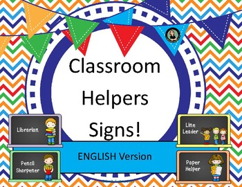 Class Helpers / Jobs / Monitors Chalkboard theme labels po