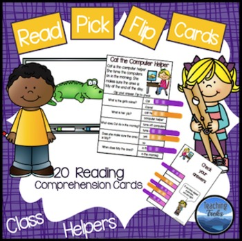 Reading Comprehension Passages: Class Jobs Clip Cards for