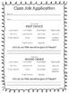 Class Job Pack - Application and Job Descriptions