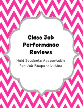 Class Job Performance Review EDITABLE