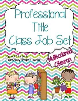 Class Job Set with Professional Titles {Chevron}