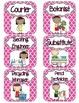 Class Job Set with Professional Titles {Pink Quatrefoil}