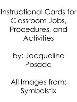 Class Jobs, Activities, and Procedures Instructional Cards