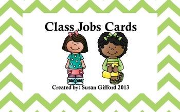 Chevron Class Jobs Cards