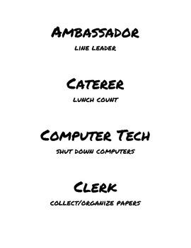 Class Jobs List