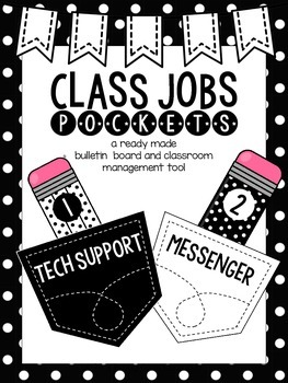 Class Jobs Pockets- Black & White