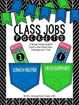 Class Jobs Pockets- Blue & Green