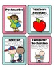 Class Jobs for the Leadership Classroom (Navy, pink, teal)