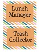 Class Jobs with Colorful Diagonal Stripes