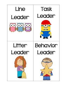 Class Leaders- Job Tags